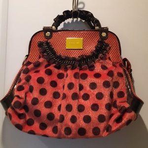 NWOT Orange & Brown Polka Dot Nicole Lee Handbag